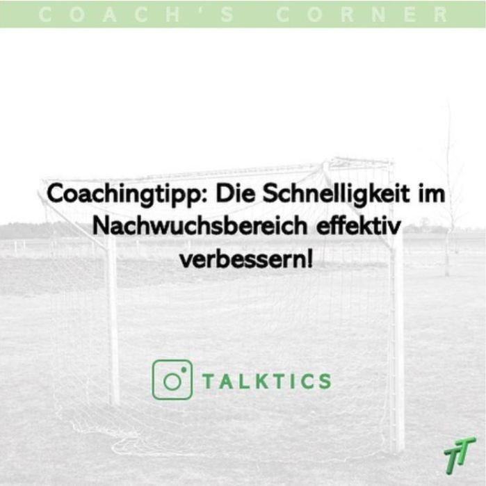 Coachingtipp: Die Schnelligkeit im Nachwuchsbereich effektivverbessern