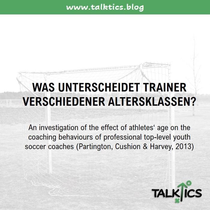 Was unterscheidet Trainer verschiedenerAltersklassen?