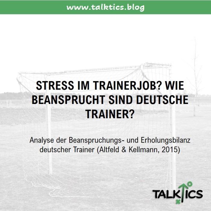 Stress im Trainerjob? Wie beansprucht sind deutscheTrainer?