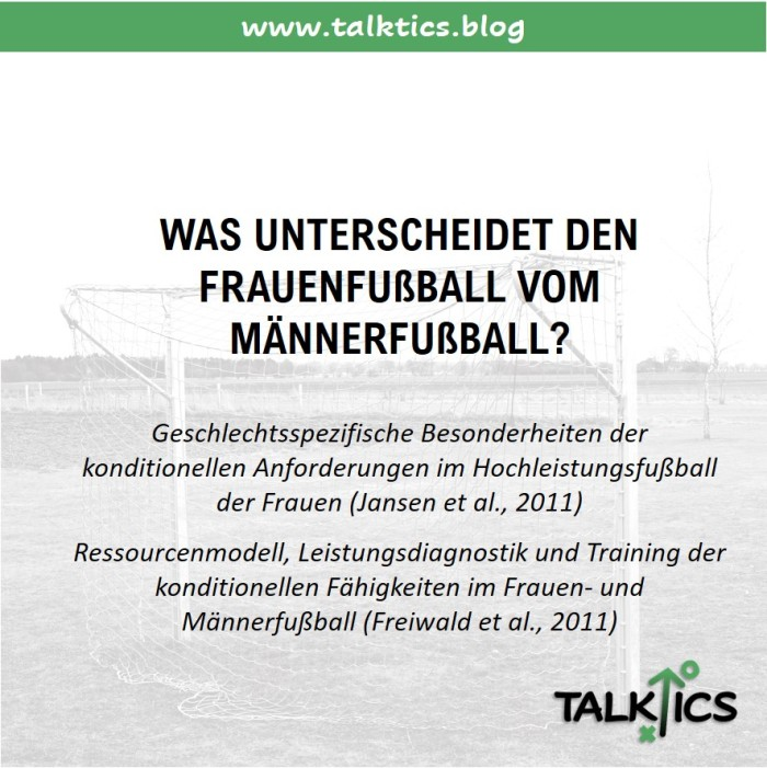 Was unterscheidet den Frauenfußball vomMännerfußball?