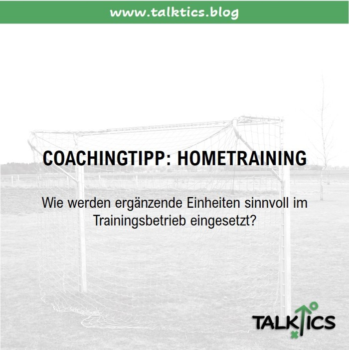 Coachingtipp: Hometraining als ergänzende Trainingseinheit