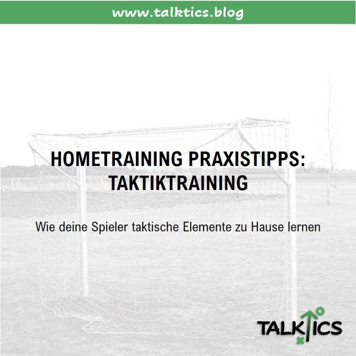 Hometraining Praxistipps: Taktiktraining