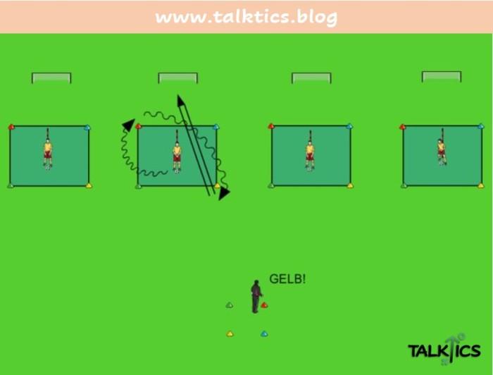 Schnelligkeitstraining mit Ball:Farbenspiele